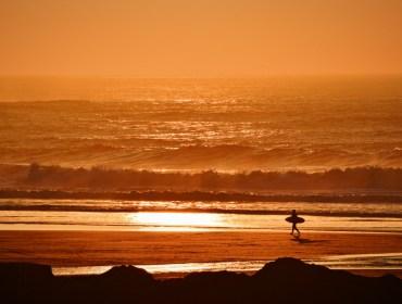 Hot Golden Sun on Beach