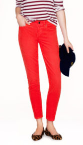 J Crew Toothpick Dyed Orange Jeans