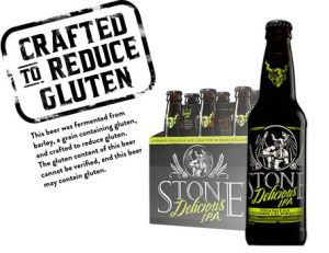 stone brewing co. Delicious IPA gluten reduced beer