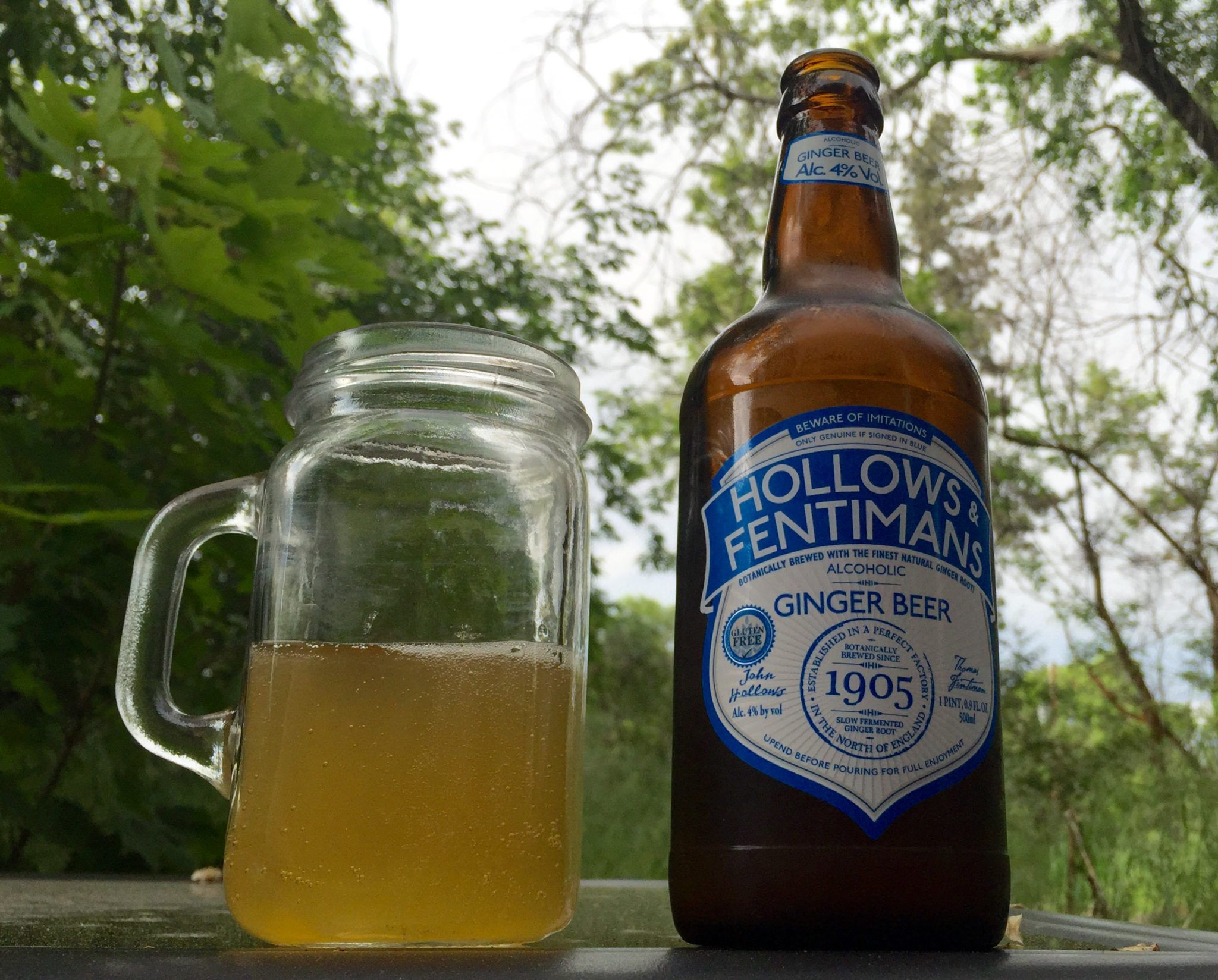 Gluten Free Beer Review Hollows and Fentimans Ginger Beer
