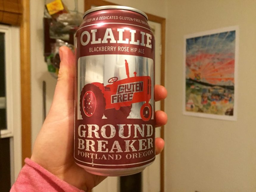 ground breaker brewing olallie ale blackberry and rose hip ale