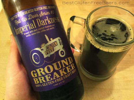 ground breaker imperial darkness gluten free beer review