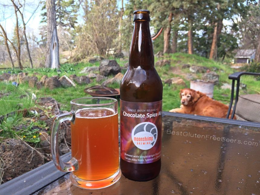 Gluten Free Beer Review: Moonshrimp Brewing Chocolate Spice Ale
