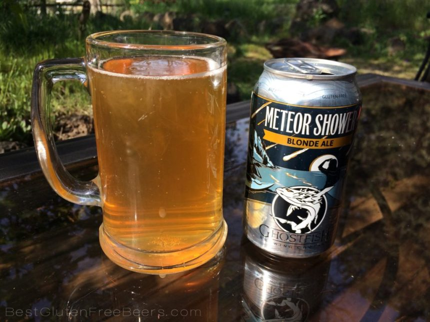 Ghostfish Brewing Meteor Shower Blonde Ale - Gluten Free Beer Review