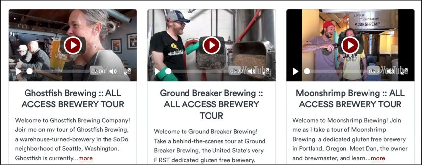 gluten free brewery tours ghostfish brewing ground breaker brewing moonshrimp brewing