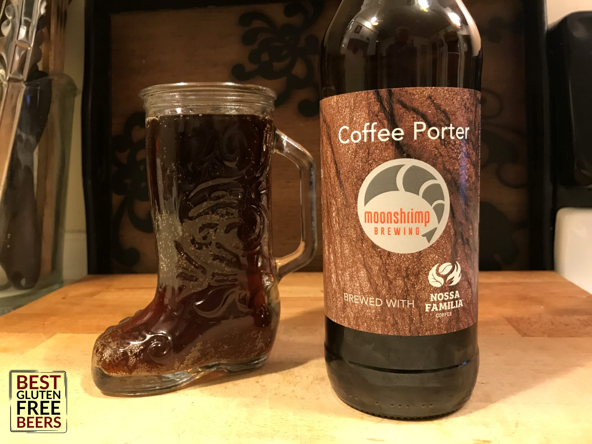 Moonshrimp brewing coffee porter gluten free beer review