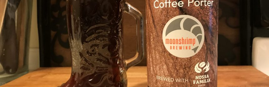 Moonshrimp brewing coffee porter gluten free beer review