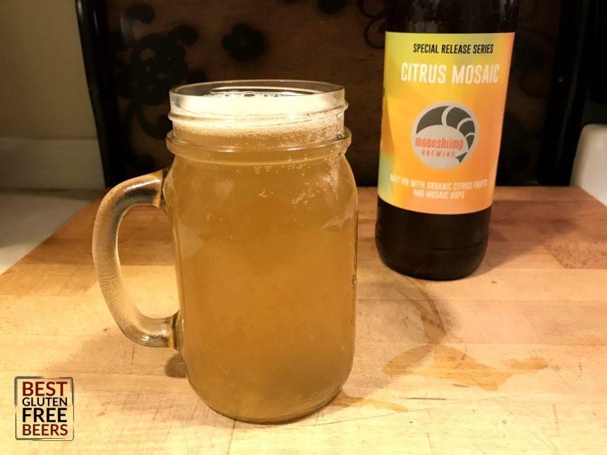 Moonshrimp Brewing Citrus Mosaic Hazy IPA Gluten Free Beer Review