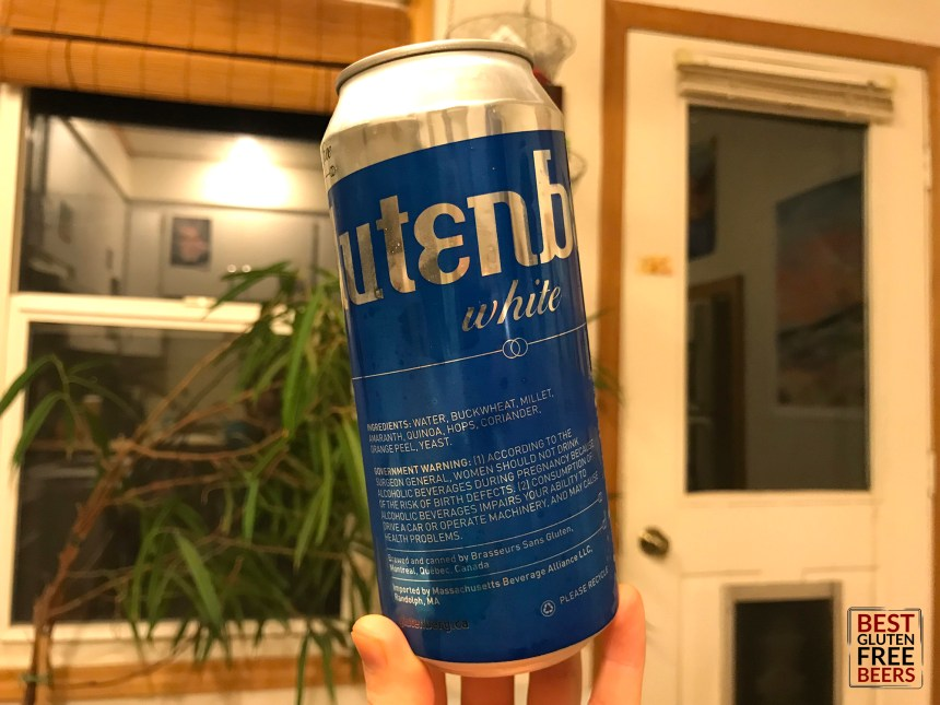 Glutenberg White Ale gluten free beer review