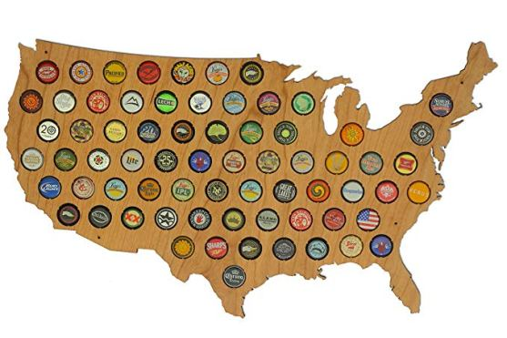 United States USA States Beer Cap Maps