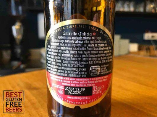 Estrella Galicia gluten reduced gluten free beer
