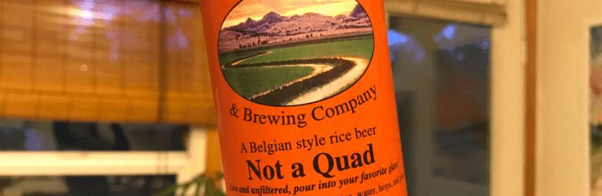 Eckert Not a Quad gluten free beer review