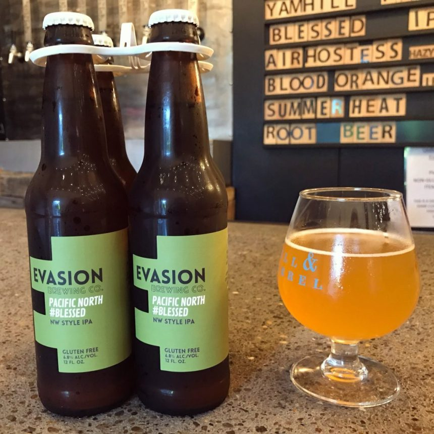 Evasion Brewing Pacific North #Blessed NW Style IPA gluten free beer review