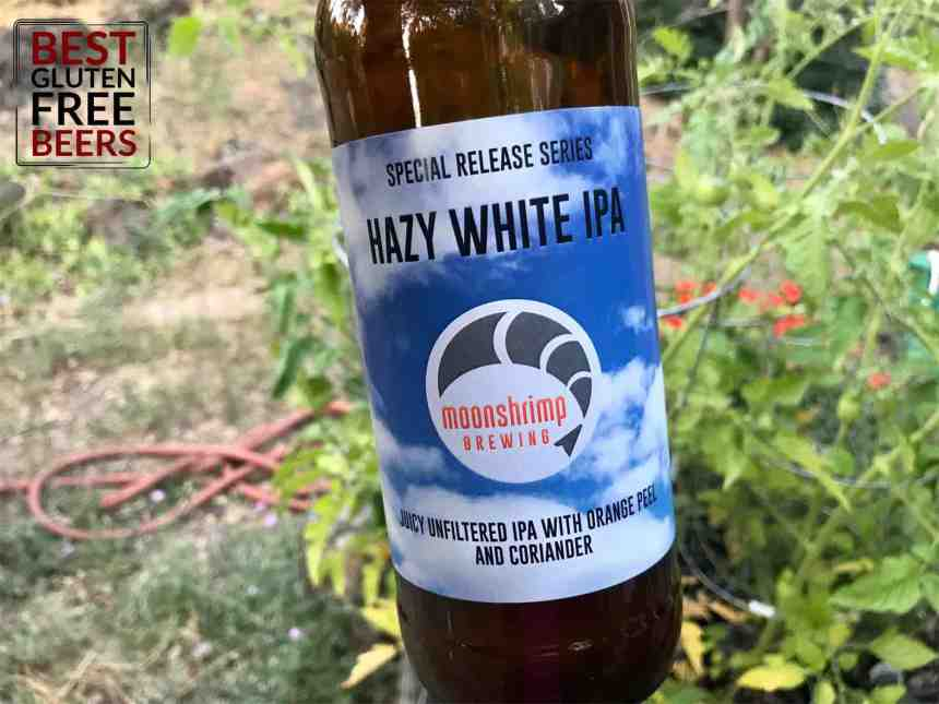 Moonshrimp Brewing Hazy White IPA gluten free beer review