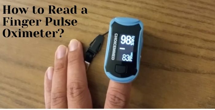 How to read a finger pulse oximeter