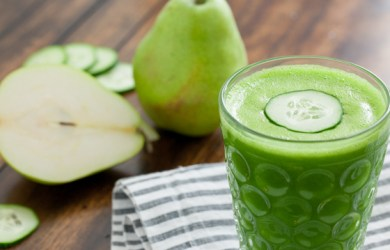 pear and cucumber detox drink