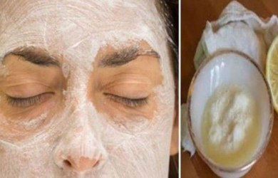 Lemon and Baking Soda Face Mask