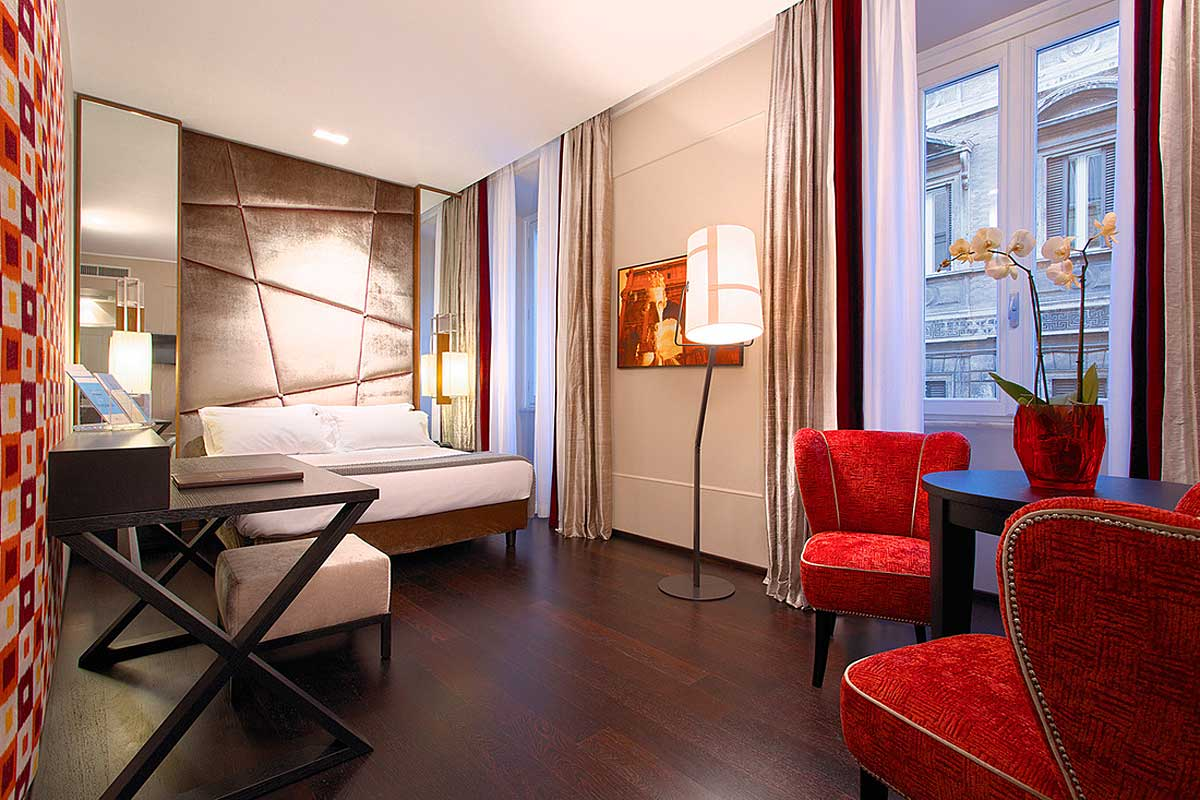 Guest room Hotel Stendhal Rome Italy