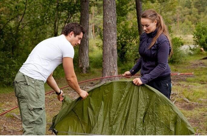 Sätta upp tält