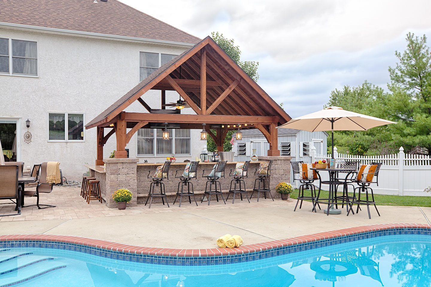 Alpine Wood Pavilions | Outdoor Structures | NY & CT on Outdoor Patio Pavilion id=47962