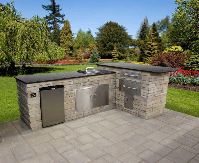 Prefab Outdoor Kitchens | Patio Kitchen Island | Outdoor ... on Backyard Patio Grill Island id=34975