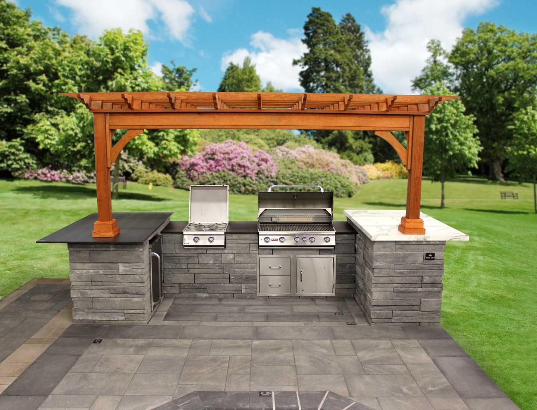 Custom Built-In Kitchen Islands | Best in Backyards on Backyard Patio Grill Island id=90137