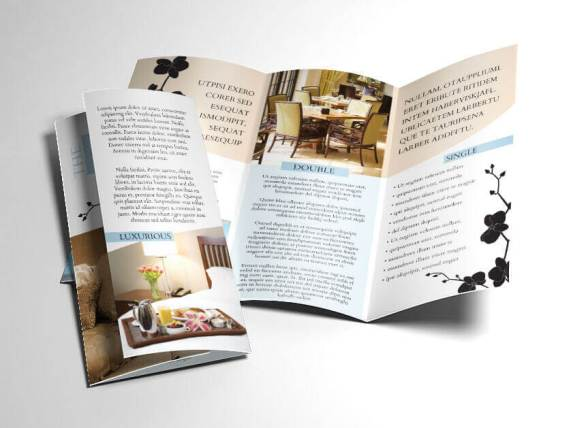 Bed And Breakfast Hotel Brochure Trifold Template Indesign Download