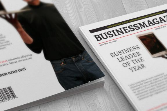 Business Magazine Cover Template - 1 Page Download