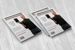 business magazine cover flat three