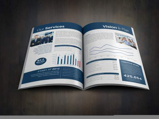 Company Annual Report Template. Download, design your own.