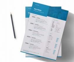 creative indesign resume pencil