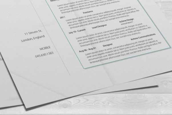designer resume closeup