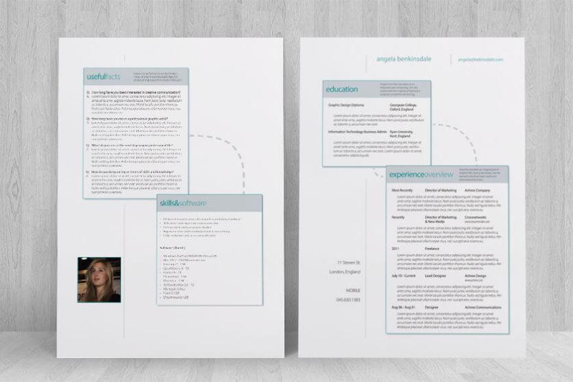 designer resume side by side