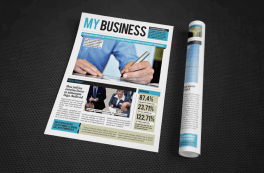 facts and numbers financial newsletter rolled