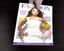 fashion magazine cover hand