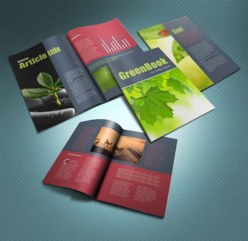 Greenbook Brochure Template 8 Pages Free Download