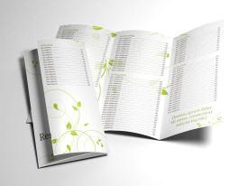 green swirls tri-fold menu inner