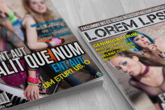 grunge music magazine cover corners