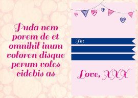 Half-fold Valentines Template Preview One Side
