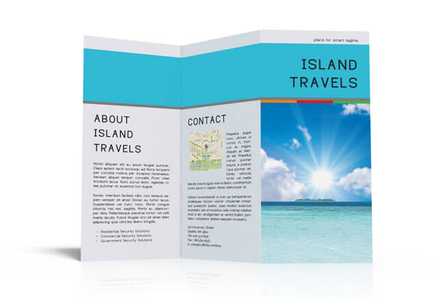 Island Travels tri-fold Open Preview