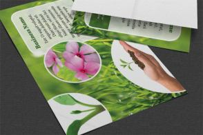 landscaping flyer table flat