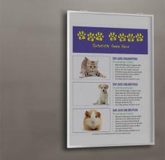 pet shop flyer wall