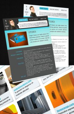 portfolio interactive resume first page preview - Interactive Resume