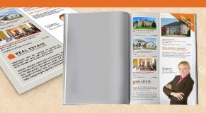 Real estate property listing flyer