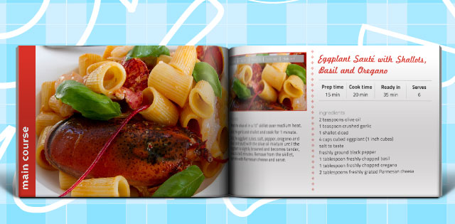Cook Book / Recipe Book Template. 20 Sample pages for Recipes.