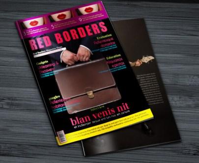 Red Borders Magazine Cover Preview