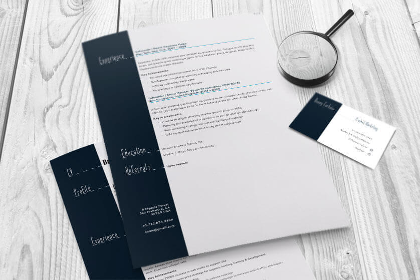 Resume And Business Card Magnify  Resume Business Cards