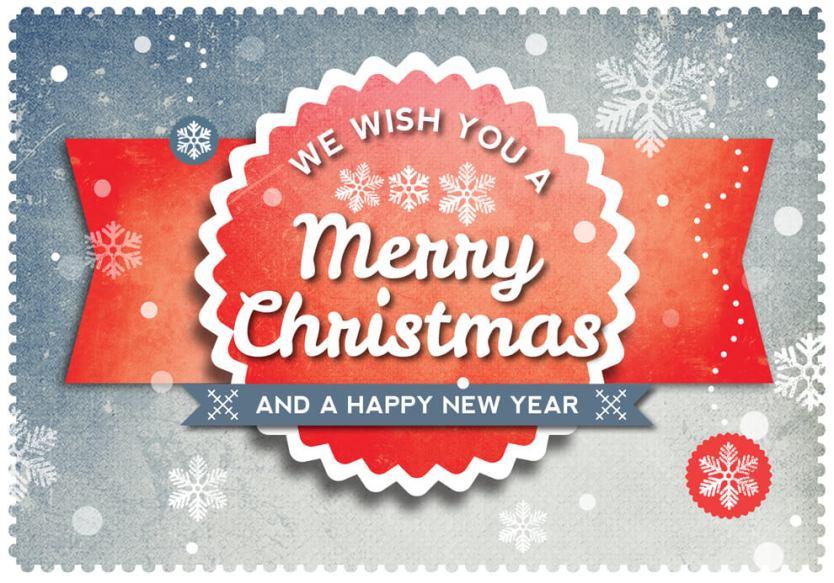 Retro Christmas Postcard Preview