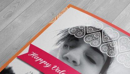 valentines day card closeup
