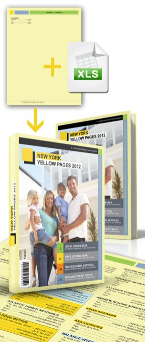 Yellow Pages Data Merge Template